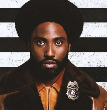 Blackkklansman frame from the movie