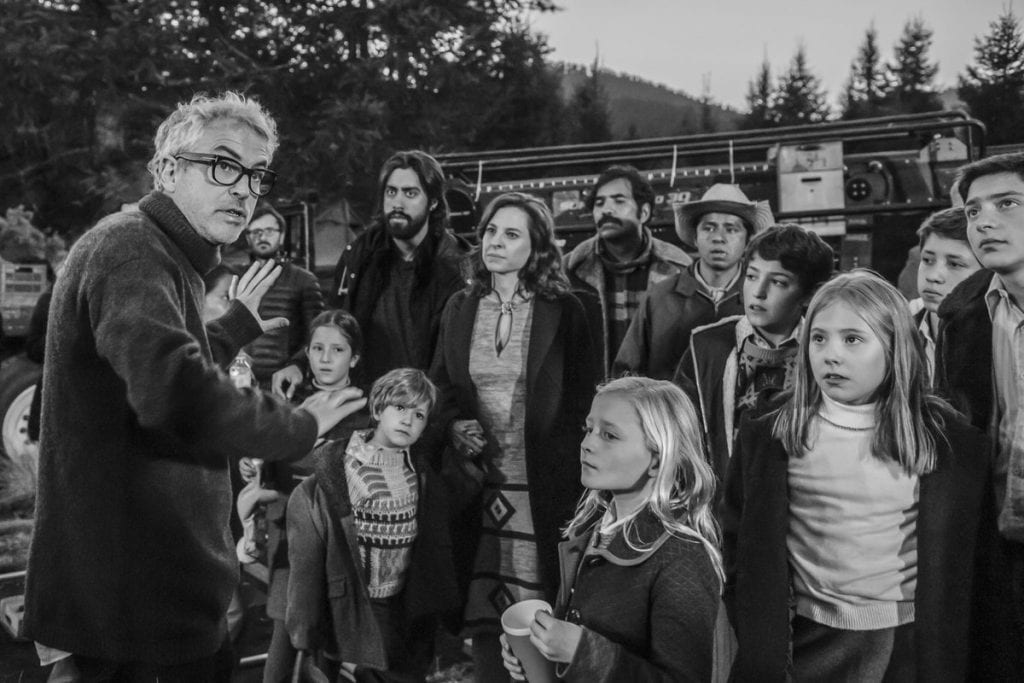 Image from shooting scene of the movie Roma (2018)