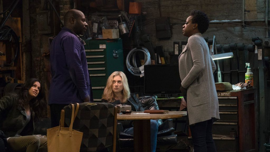 Pict from backstage of movie of Widows (2018)