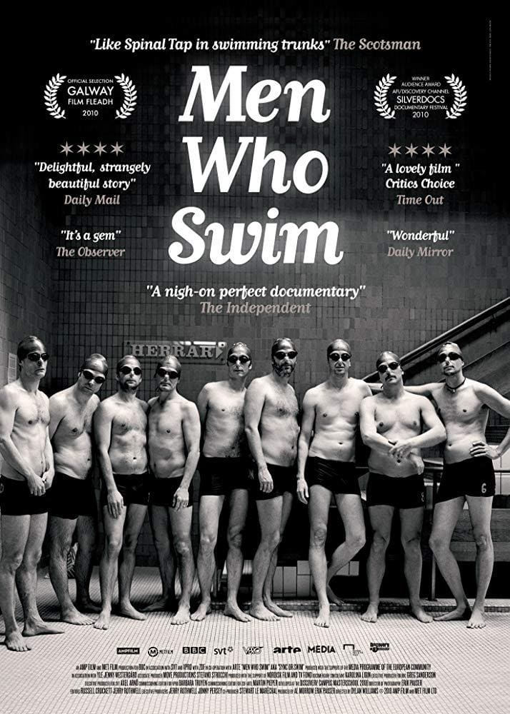 Movie poster from the documental Men Who Swim